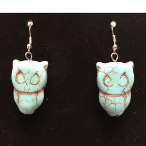 Peruvian genuine Turquoise owls - new Boutique